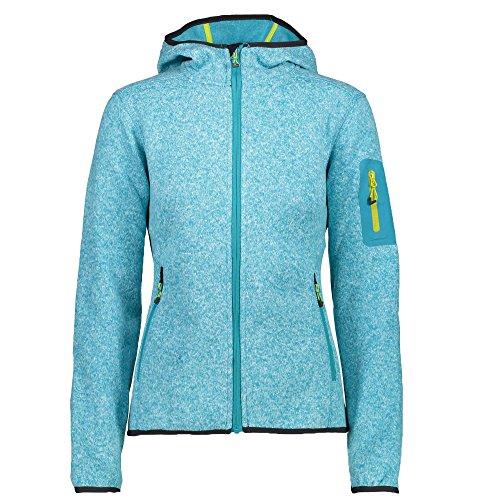 Pignolo Strickfleece-Sweatjacke-Outdoor Jacke Damen Kiara II, Größe:50, Farbe:Curacao-B-Co-Anthrazite