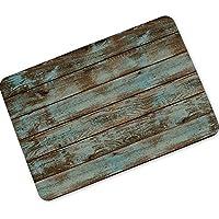 Alfombra de baño antideslizante INICIO Almacén de madera de grano horizontal de goma absorbente de agua