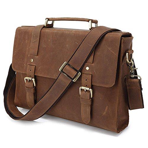 Everdoss Hommes sac à bandoulière en cuir sac à main sac de messager sac d'épaule sac de business sac de loisirs