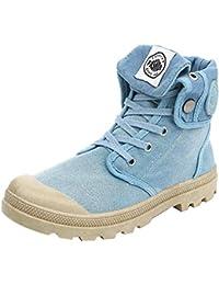 Zapatos Mujer,Mujeres Botas de Estilo Palladium Moda Zapatos Militares de tacón de Tobillo Zapatos Casuales Botas de Trabajo, Puntera de Acero, Tapas, con Suela de Encaje, para Mujer