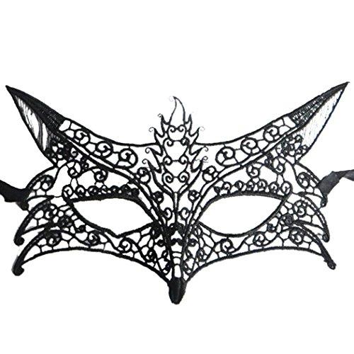 Fox formte höhlen heraus Spitze Halloween Abend Partei Abschlussball Maskerade (Halloween Kostüme Königin Abschlussball)