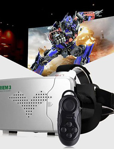 LEBULI RITECH® Riem III Virtual Reality 3D Glasses + Smart Bluetooth Wireless Mouse / Remote Control Gamepad LIU8