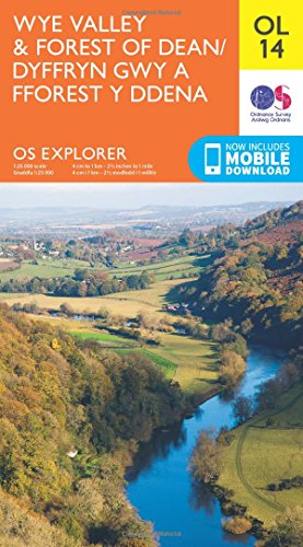 OS Explorer OL14 Wye Valley and Forest of Dean (OS Explorer Map)