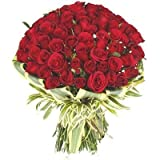 Floralbay Special Red Roses Bouquet Fresh Flowers (Bunch of 143)