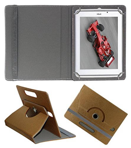 Acm Designer Rotating 360° Leather Flip Case For Xolo Qc800 Tablet Stand Premium Cover Golden  available at amazon for Rs.189