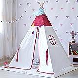 Zelt/ DELLT- Kinder Spiel Red Star Pattern und Yellow Deer Moon Stickmuster Indian Vier Ecken Indoor Outdoor-Garten (beinhaltet Keine Spielzeug und Ornamente) (Farbe : #B)