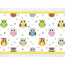 """'I Love de pared adhesivo B de 10039habitación de los Niños cenefa """"Búhos Diseño Animales, papel pintado infantil"""