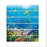 AZXC Stair Sticker 3D Blue Underwater World Stair Sticker Self Adhesive PVC Furniture Decor,Blue