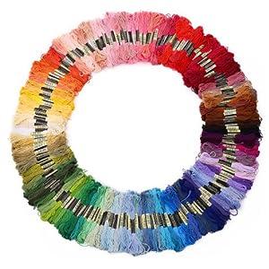 200 Docken Sticktwist Stickgarn 8m 6/faedig Multicolor farblich bunt Basteln Set