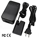 Partstec [Fully Decoded] ACK-E6 AC Power Adapter And DR-E6 DC Coupler (LP-E6/LP-E6N Battery) Camera Battery Charger Kit For Canon EOS 5D Mark II III 6D