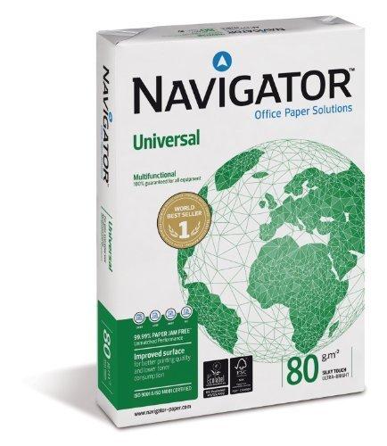 Navigator universale a4 bianco 80 g / mq 5 pacchi x 5 risme ogni confezione