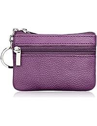 Share Hommes femmes en cuir véritable portefeuille porte-monnaie