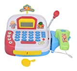 #10: IFRAZON Cash Register Musical Play Set Play Food & Supermarket Toy with Scanner(Color May Vary)