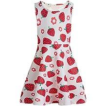 Chicolife verano niñas vestidos sin mangas vestido de flores niña niño casual 3-13years sundress