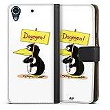 HTC Desire 626 Tasche Hülle Flip Case Uli Stein Fanartikel Merchandise Dagegen