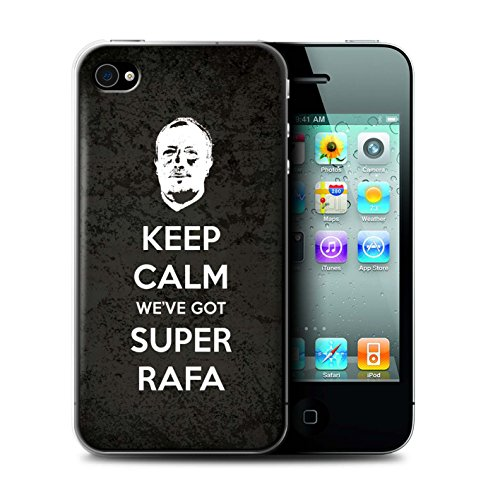 Officiel Newcastle United FC Coque / Etui pour Apple iPhone 4/4S / Pack 8pcs Design / NUFC Rafa Benítez Collection Rester Calme