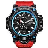 aisence Fashion Herren Armbanduhr Digital Sports Wasserdicht Outdoor Multifunktions-elektronische Watch LED Hintergrundbeleuchtung Teen Boy 's, rot
