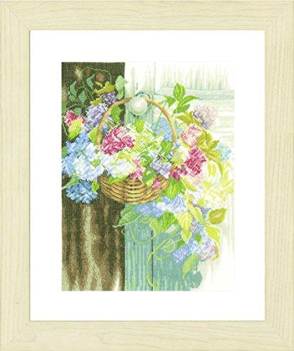 Flower Basket Lanarte-Kit per punto croce