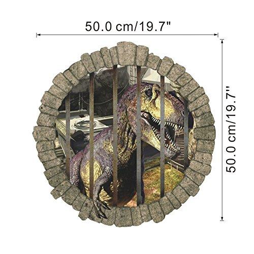 RC-Angel - Vinilo adhesivo de pared, diseño de dinosaurios en 3D, extraíble