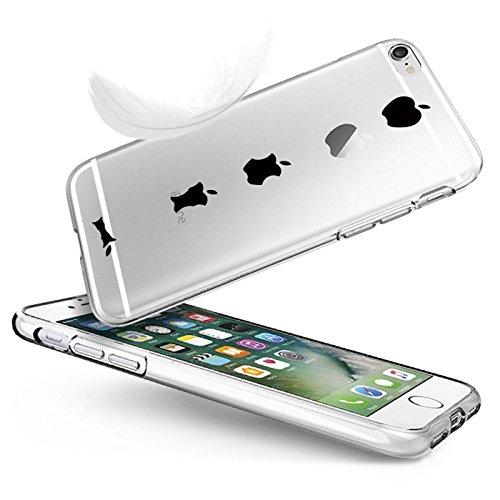 vanki® iPhone 6/6s hülle Tasten Lustig Schutzhülle Clear Case Cover Bumper TPU Silikon Handyhülle für iPhone 6/6s (4,7 Zoll) (Eating apple) Eating apple
