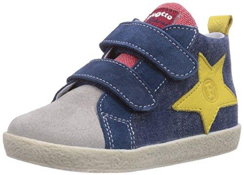 Naturino FALCOTTO 1373 VELCRO, Sneaker per neonati bambino, Multicolore (Mehrfarbig (GRIGIO - BLUETTE)), 22
