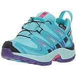 Salomon Kinder XA Pro 3D CSWP Trailrunning/Outdoor-Schuhe, Blau/Türkis (Blue Curacao/Eggshell Blue/Purple O), Gr. 28
