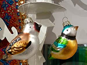 Decorative Vintage Glass Birds - for the Home or the Christmas Tree