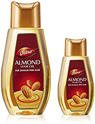 Dabur Almond Hair Oil, 500ml with Free Hair Oil, 100ml