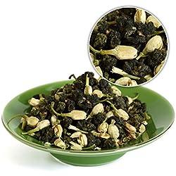 GOARTEA 100g (3.5 Oz) Organic Supreme Taiwan High Mountain Jasmine Tung Ting TungTing Dong Ding DongDing Wulong Oolong Tea Tee