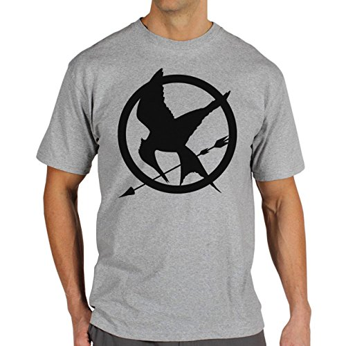 The-Hunger-Games-Mockingjay-Mockingjay-Simple-Background.jpg Herren T-Shirt Grau
