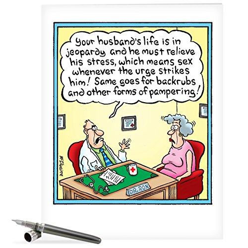 pjbd6Jumbo Cartoons diverse Geburtstag Karte mit Umschlag 1 Jumbo Birthday Card & Enve. (J8547) J8547 Jumbo Birthday Card Going To Die