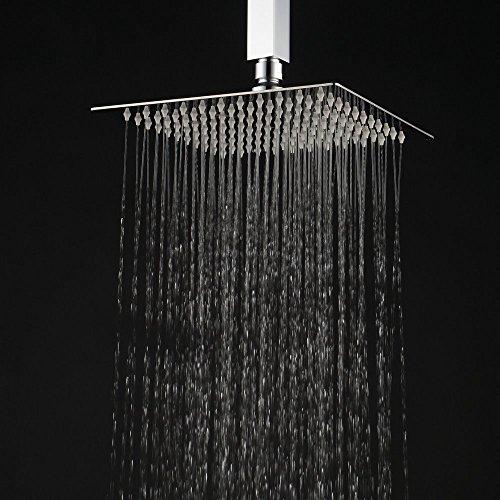 square shower head. Black Bedroom Furniture Sets. Home Design Ideas