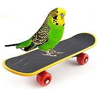 CDKJ Monopatín Juguete para Pájaros Aves Mini Monopatín Entrenamiento para Mascotas