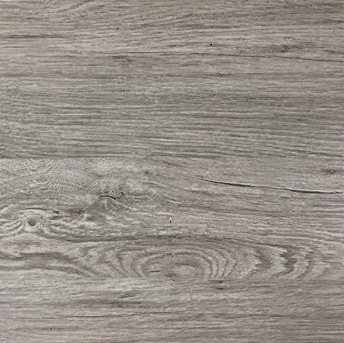 """Klebefolie in grauer Holz-Optik [200 x 67,5cm] I Selbstklebende Folie für Möbel Küche & Deko I Blickdichte Selbstklebefolie hitzebeständig & abwaschbar I 3D Holz-Maserung Dekor \""""Kalk-Esche\"""""""