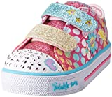 Skechers Baby Mädchen Shuffles-Poppin Posse Sneaker, Mehrfarbig (Hot Pink/Multicolour), 25 EU