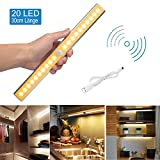 20 LED Schrankbeleuchtung Licht, Nachtlicht mit Bewegungsmelder Sensor Schrank Licht, Schranklampe mit Magnetstreifen, Auto ON/OFF Licht für für Küche, Flur oder Durchgänge, Treppenhäuser und Keller