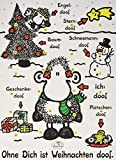 Sheepworld Adventskalender 'Ohne Dich ist Weihnachten doof', mit Schokolade