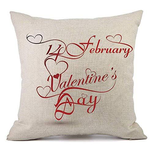 Valentines Kissenbezug 18 x 18 für Couch Liebe rote Rose Sweet Heart Valentinstag Dekorationen Dekokissen Home Decor Kissenbezug Faux Leinen Kissen Fall Sofa (Hearts Of Strümpfe Queen)