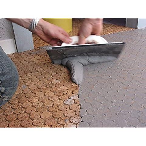 Masa para juntas/Flex para juntas/Lechada (25kg, mittelgrau): para suelos y de pared de cerámica/porcelanato u.ä./piedra de vidrio/corcho mosaico/Adecuado para salas de húmedo y