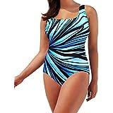HP95(TM) Fashion One Piece Women Padded Swimsuit Plus Size Beach Swimwear Tankini Bodysuits (XXL)