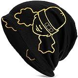 Photo de Edith Daisy Alessia Cara Unisexe Adulte Tricot Chapeaux Bonnet Chapeau Hiver Chaud Impression Crâne Cap Noir par Edith Daisy
