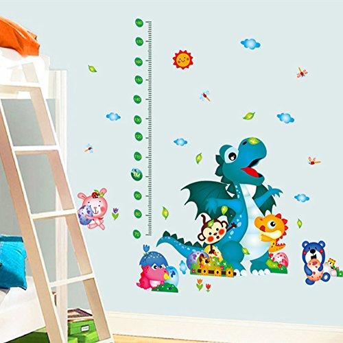 Preisvergleich Produktbild Wandtattoo Wandsticker Aufkleber Tiere Kinder Baby Kinderzimmer Drachen DD60