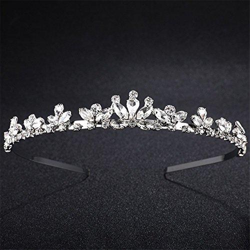Kopfschmuck Strass Braut Krone geformt Glas Diamant Braut Kopfschmuck Europa und Amerika heißen Hochzeit Ehe Kopfschmuck (Diamant Geformte Gläser)