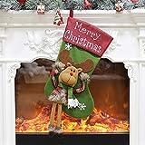Oyedens Weihnachtssocken Weihnachtsbaum Anhänger Kinder Geschenk Candy Bag Geschenktüte Süßigkeitstasche Weihnachtsbaum Ornament Strumpf Schneemann Sock Decor