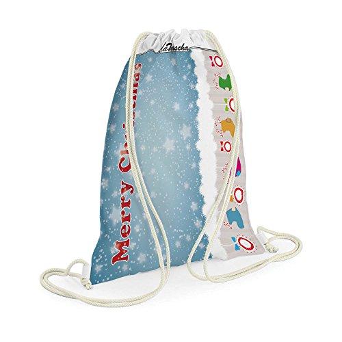 Weihnachtssocken - LaTascha Gymbag Sporttasche Jutebeutel Hipster Sack Umhängetasche Stringbag (Gedichte Halloween Spaß)