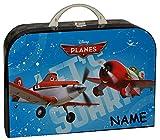 Unbekannt Kinderkoffer Disney Planes Dusty - mit Namen - Groß - Puppenkoffer Koffer Reisekoffer aus Pappe - Flugzeuge Fahrzeug Jungen