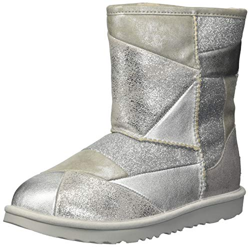 UGG Kids' T Classic Short Ii Patchwork Fashion Boot, (Stiefel Ugg Silber)