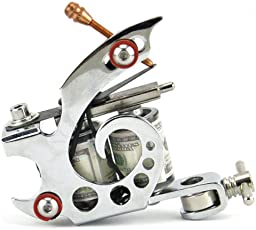 Generic Stylish Cool Stamping Carbon Steel 8 Wraps Coil Dual-Coiled Tattoo Machine - 13004942MG