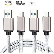 Leadleds cavo USB tipo C (2-pack), 1m, USB C a USB a 3.0in nylon intrecciato ricarica veloce cavo di sincronizzazione per Google pixel, LG G5, G6V20Nintendo interruttore, Samsung Galaxy S8Plus, nuovo MacBook più