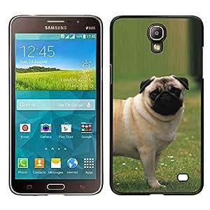 TopCaseStore / Snap On Gummi Schwarz Schutz Hülle Case Cover - Pug Outside Grass Puppy Dog Small - Samsung Galaxy Mega 2